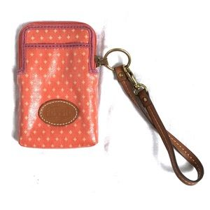Fossil Key-Per carryall wristlet wallet orange